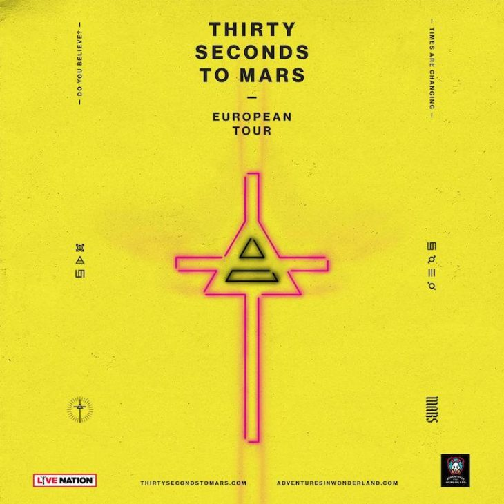 Thirty Seconds To Mars tour 2018, due concerti in Italia a marzo